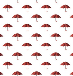 Red umbrella seamless pattern vector image