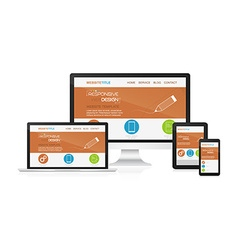 Responsive design and web devices vector
