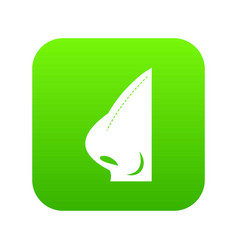 rhinoplasty of nose icon digital green vector image
