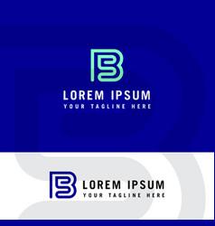 sb initial logo b and s initial monogram logotype vector image
