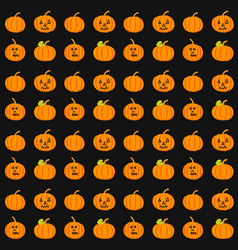 seamless pattern with pumpkins background vector image