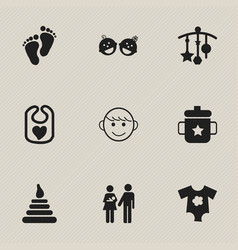 Set of 9 editable icons includes symbols such a vector