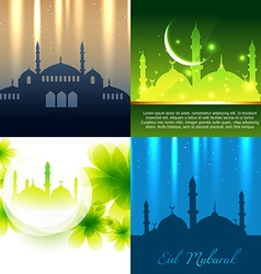 Set of attractive background of ramadan kareem vector