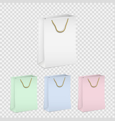 set of empty shopping paper bags vector image