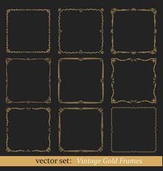 Set vintage frames vector
