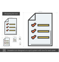 shopping list line icon vector image