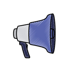 silhouette colored pencils of megaphone icon vector image