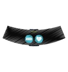 Smart bracelet touchscreen wearable technology vector