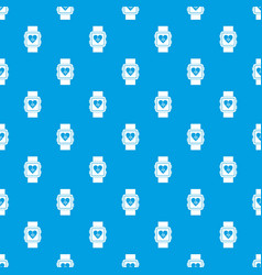 smartwatch pattern seamless blue vector image