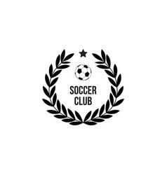 soccer club icon stamp with round wreath and vector image