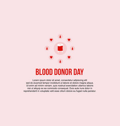 Style collection blood donor day banner vector
