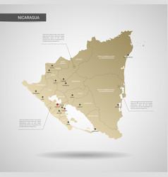 stylized nicaragua map vector image