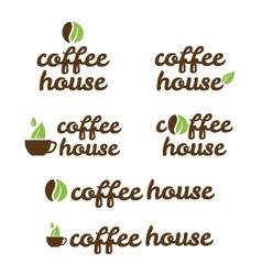 Symbol of coffe house vector