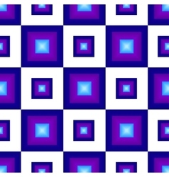 The pattern of blue squares vector image