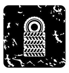 Tires icon grunge style vector