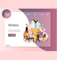 victory website landing page design vector image