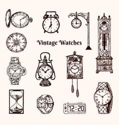 vintage classic pocket watch alarm clock vector image