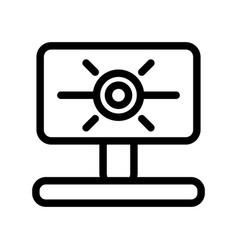 Web camera line icon computer cam vector