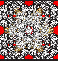 White pattern on red background with white vector