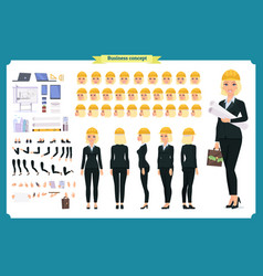 woman architect in business suit and helmet vector image