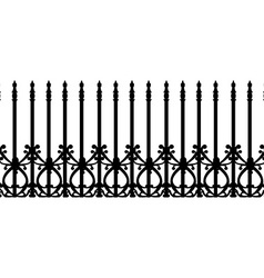 Wrought railing fence vector image vector image