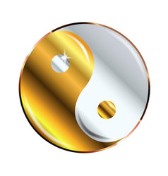 yin and yang gold and silver vector image