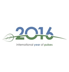 2016 pulses international year of pulses green vector image