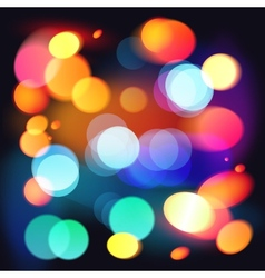 Bright colorful bokeh abstract background vector image vector image