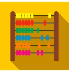 Colorful children abacus flat icon vector image vector image