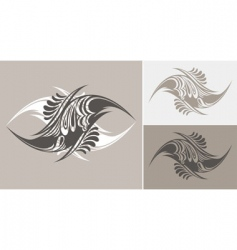 tattoo styled abstract designs vector image vector image