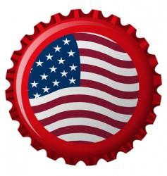 us bottle cap vector image vector image