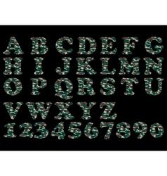 ALPHABET MILITARY GREEN vector image vector image