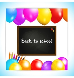 Back to school balloons panel background vector