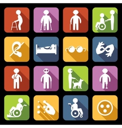 Disabled Icons Set Flat vector image