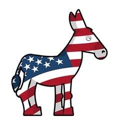 Donkey Democrat Symbol of political party in vector image vector image