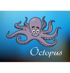 Funny cartoon baby octopus vector image vector image
