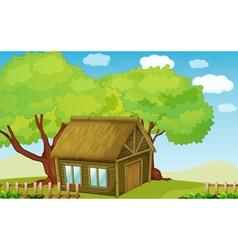 hut vector image vector image