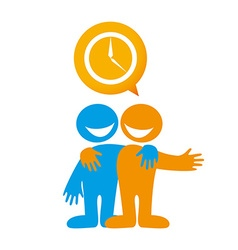 people dialog icon vector image