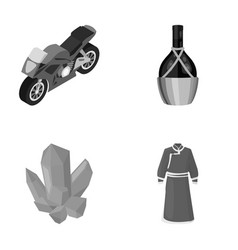 textiles tourism travel and other monochrome vector image vector image
