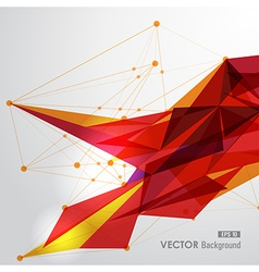 Yellow and red web geometric transparency vector image vector image