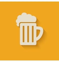 beer mug design element vector image