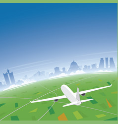 belgrade skyline flight destination vector image