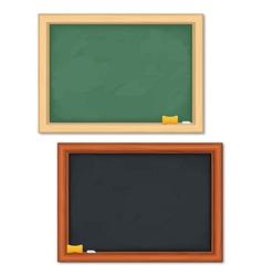 Black and green blackboards vector image vector image