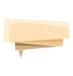 origami speech bubble icon cartoon style vector image