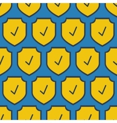Seamless square pattern - security shield vector image vector image