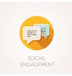 Social Engagement Icon Flat design style with vector image vector image