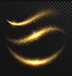 sparkle stardust golden glittering magic vector image
