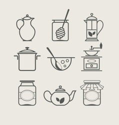 tableware set icon vector image vector image