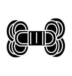 yarn icon black sign on vector image