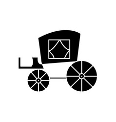 carriage vintage antique transport icon vector image